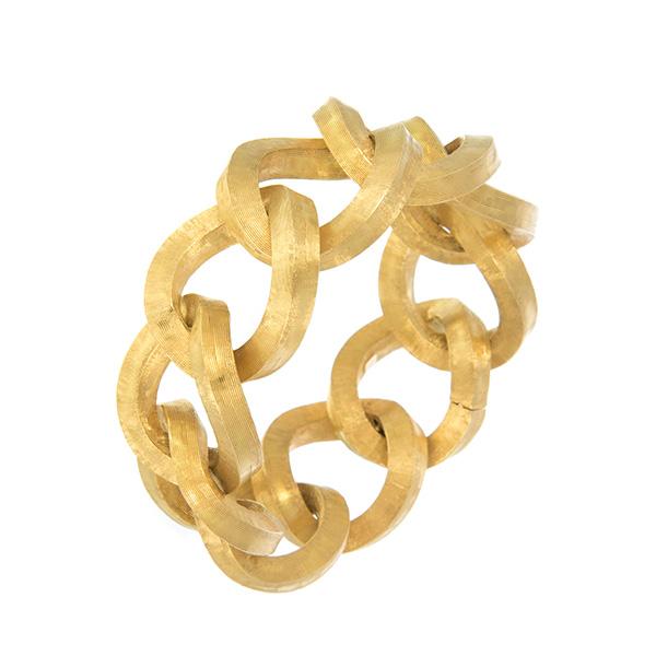Pulsera de oro amarillo con argollas