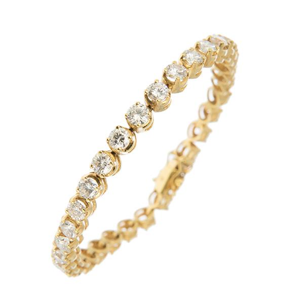 Pulsera riviere en oro con 32 diamantes